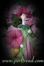 Amaryllis Mädchen Figur Dekoration