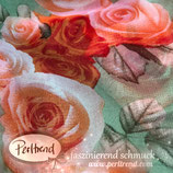 Schal Tuch Roses grün
