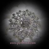 Brosche Crystal Eisblume