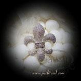 Brosche Lilie mit Crystals silberfarben