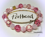 Stretcharmband Candy Pink Crystals 20
