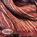 Schal Tuch Rot mit weissen Streifen