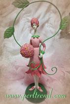 Schneeball Rosa Mädchen Figur Dekoration