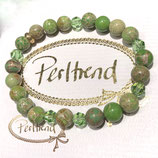 Armband Green Harmony with Crystals