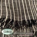 Schal Tuch Grau mit weissen Streifen