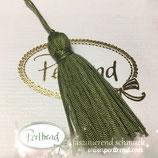 Quaste 6.5 cm olivgrün