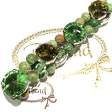 Armband Green Harmony with Crystals Highlight