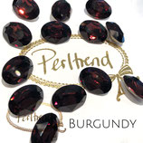 Burgundy Fancy Stone Oval 18 mm x 13 mm