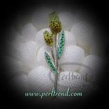 Brosche gelbe Crystal Tulpen
