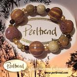Stretcharmband Vintage purple beige Pumpkin Love