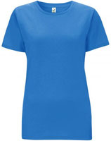 Damen T-Shirt blau/weiß