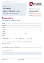 Einleger für Gruppenflyer (Anmeldung)
