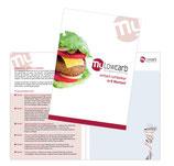 Gruppenflyer für 6 Kurstermine, Low-Carb-Burger