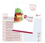 Gruppenflyer für 8 Kurstermine, Low-Carb-Burger