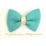 barrette 11 lin turquoise