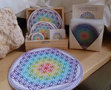 FLOWER OF LIFE REGENBOOG STICKERS