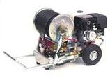 Fahrbares HD-Rohrreinigungsgerät mit Honda-Benzin-Motor für Rohre bis 250 mm.