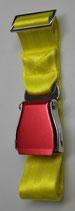 Flugzeuggürtel airline seatbelt yellow-red