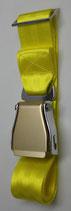 Flugzeuggürtel airline seatbelt yellow-gold