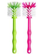 2er Mixbehälterbürste (Grün/Pink)