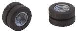 Faller 163112 2 Kompletträder (Zwillingsbereifung) Reifen und Felgen für Feuerwehr