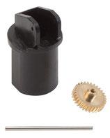 Faller 163501  Motorhalter für Ø 10 mm Motor, Achse 24 mm / Modul 0,3 Z30