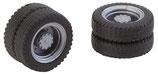 Faller 163103 2 Kompletträder (Zwillingsbereifung) NQ-Reifen & Felgen