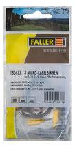Faller 180677 3 Micro-Kabelbirnen, weiß