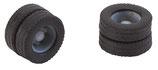 Faller  163111 2 Kompletträder (Zwillingsbereifung) Reifen und Felgen für 7,5 to.