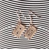 """Earrings """"Cassette"""" silver"""