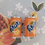 """Earrings """"Fanta"""" Orange Mini Kann"""