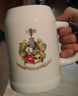 Bierkrug mit Wappen und Couleurname