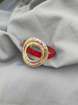 Bracelet cuir, passant métal n° 112