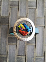 Bracelet en verre dichroïque Rond N° 1