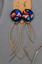 Boucles d'oreilles verre dichroïque Rondo 1