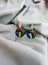 Boucles d'oreilles en verre dichroïque n°6