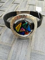 Bracelet verre dichroïque Rond N°4