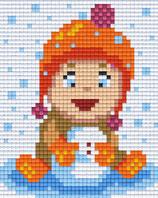 801402 petite fille boule de neige