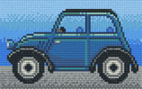 802089 voiture ancienne bleue