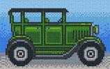 802088 voiture ancienne verte