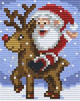 801455 Père Noël sur renne