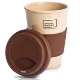 ECO Kaffeebecher to go aus Reishülsen oder Mais - rein pflanzlich