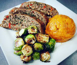 Turkey Meatloaf with Mixed Roasted Vegetables