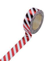 """Masking tape """"métallique rayé rouge"""""""