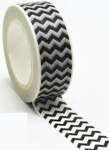 Masking tape chevrons noirs