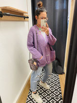 Gold and Silver Cardigan Fetiche