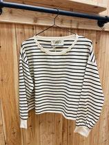 Chantal b Crop Sweatshirt Stripe