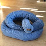 3001 Bettschlange einfärbig blau
