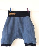 2006 Musselin Shorts rauchblau