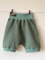2006 Musselin Shorts smaragdgrün
